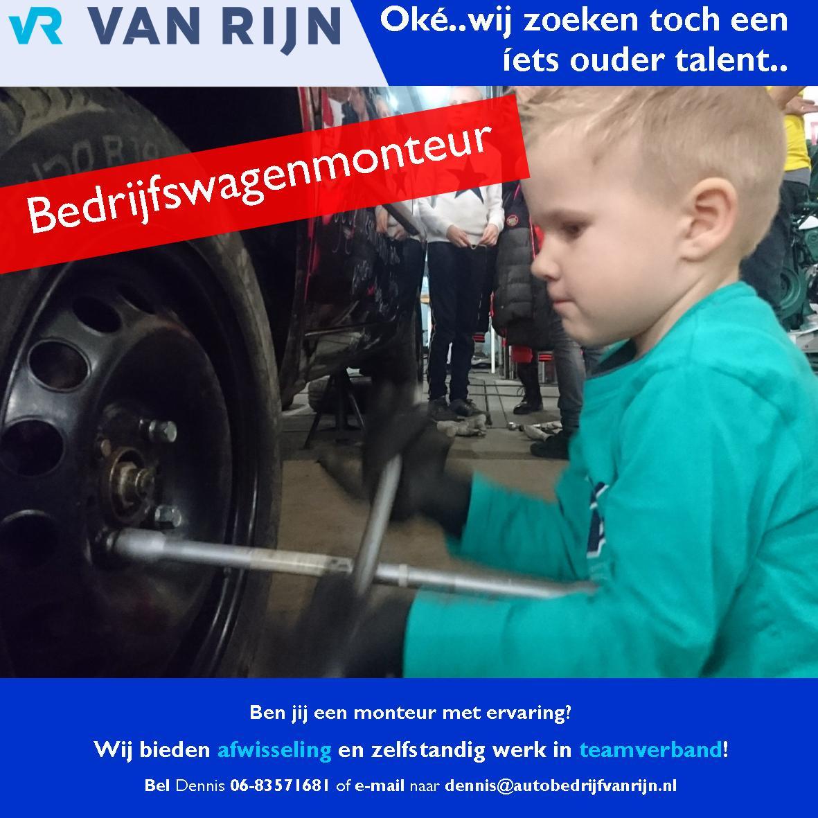monteur vacature Van Rijn Mijdrecht Ronde Venen